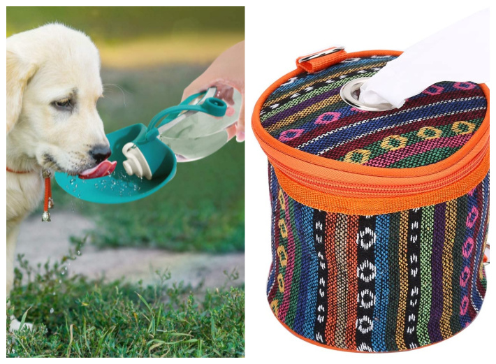 Dog water bowl and toilet paper dispenser - camping ideas for kids - Kids Activities Blog