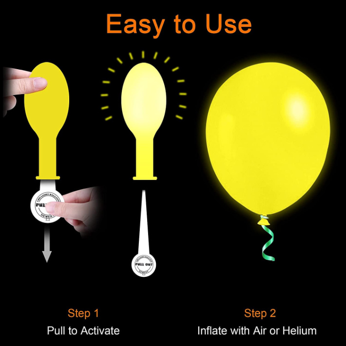 How glow in the dark balloons LED work from Amazon
