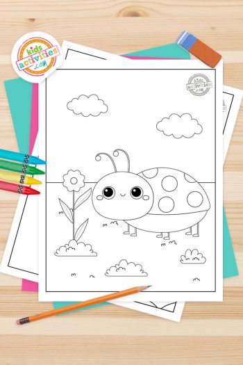 Ladybug Coloring Pages Feature Image