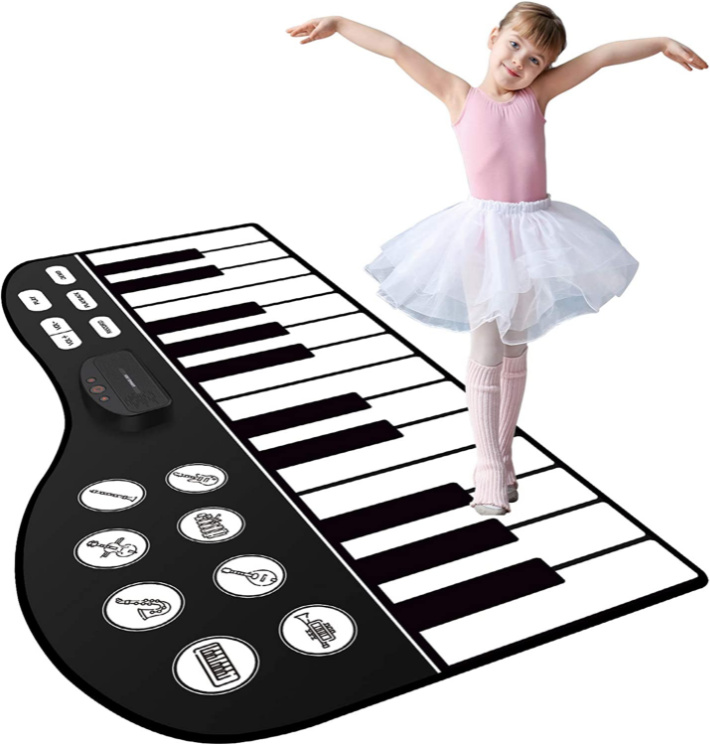 M Sanmersen Piano Keyboard Mat for kids shown with child - image from Amazon