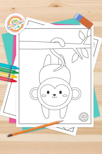 Monkey Coloring Pages Feature Image