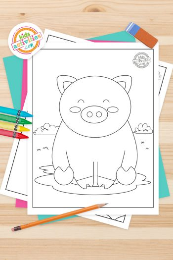 Pig Coloring Pages Feature Image