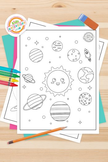 Planets Coloring Pages Feature Image