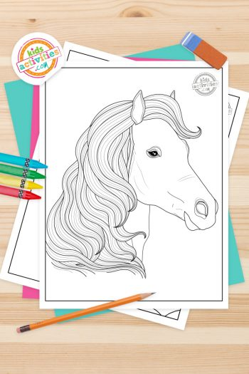 Realistic Horse Coloring Pages Feature Image