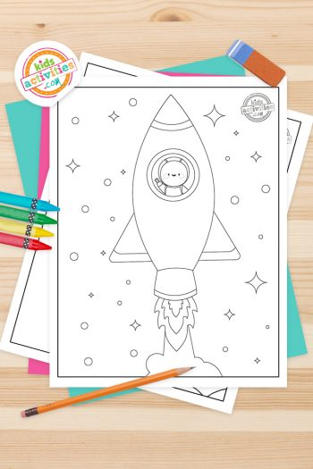 Rocket Coloring Pages Feature Image
