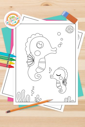 Seahorse Coloring Pages Feature Image