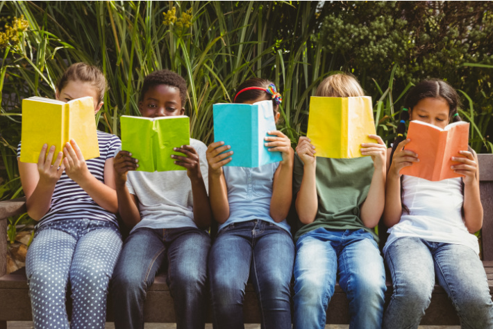 Shop for those school supplies early and often - Kids Activities Blog - line of kids reading books