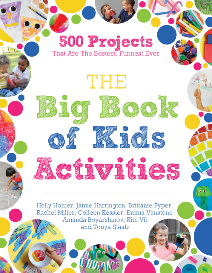 The Big Book of Kids Activities Cover with 500 projects that are the bestest, funnest ever!