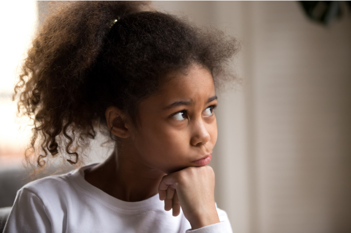 What to do when kids whine all the time - Kids Activities Blog - child looking off into the distance with upset look on face