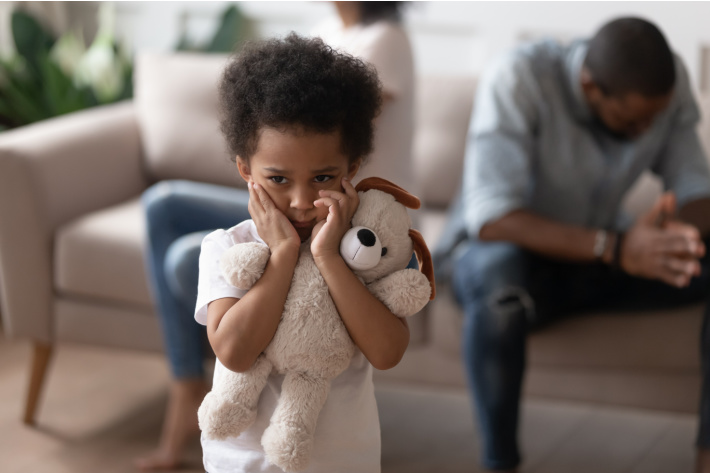 When a child is afraid to go to school - Kids Activities Blog - child holding teddy bear