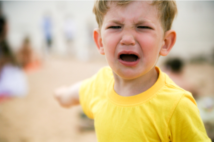 When kids whine - Kids Activities Blog - child pointing and whining
