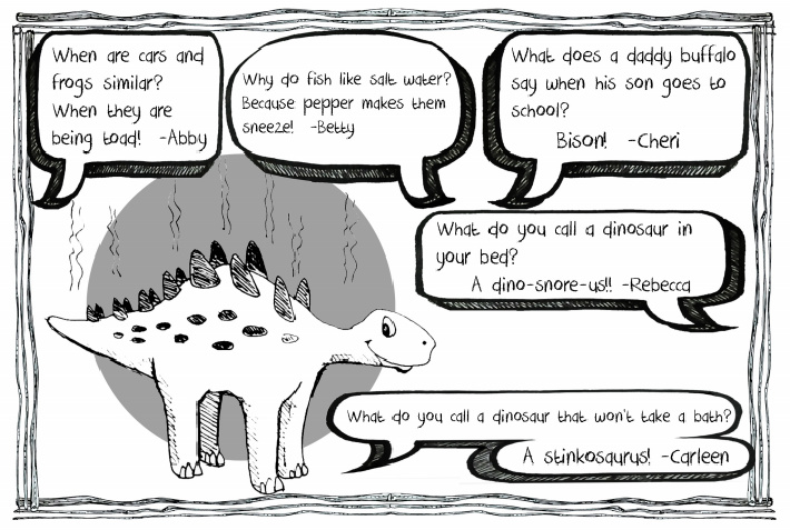 Why the dinosaur will not take a bath joke and others from Kids Activities Blog eBook of jokes for kids pdf