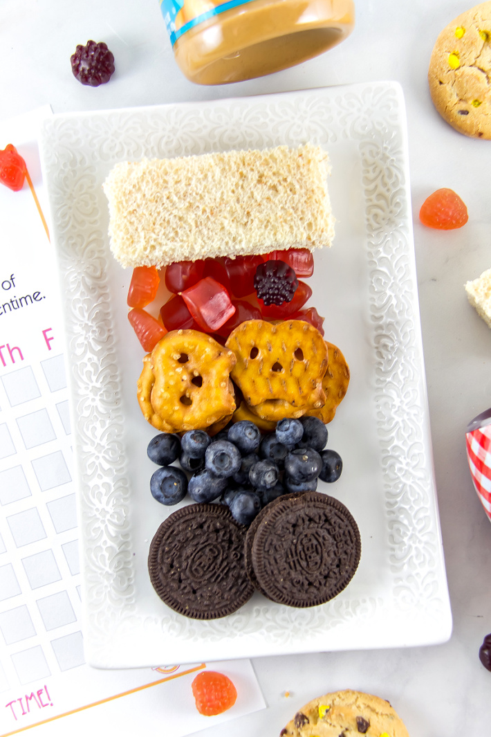 An after school snack tray for kids.
