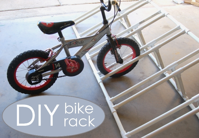 diy bike rack from Kids Activities Blog - pvc projects