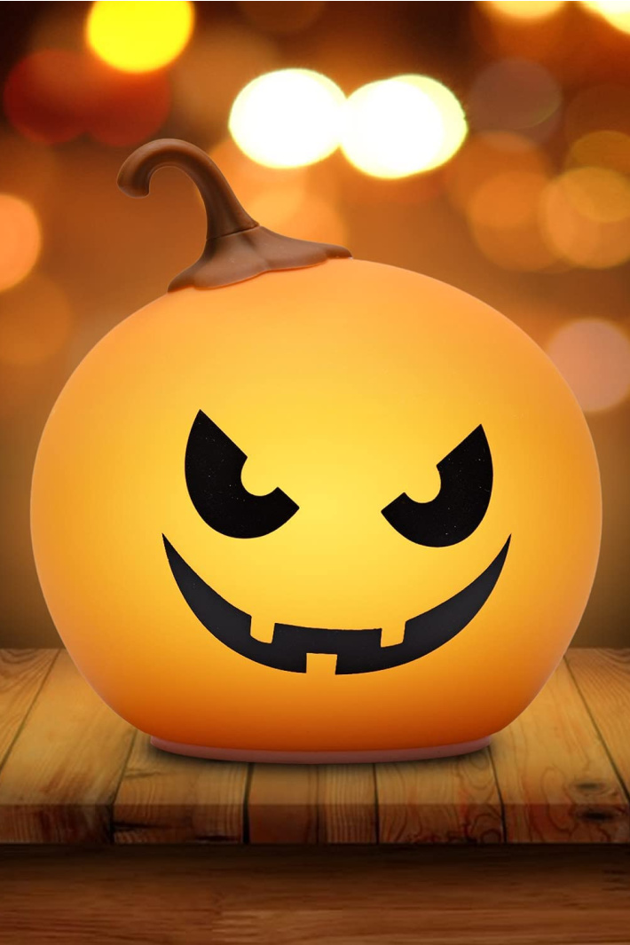 You Can Get Your Kids A Color Changing Pumpkin Night Light To Light Up This Halloween
