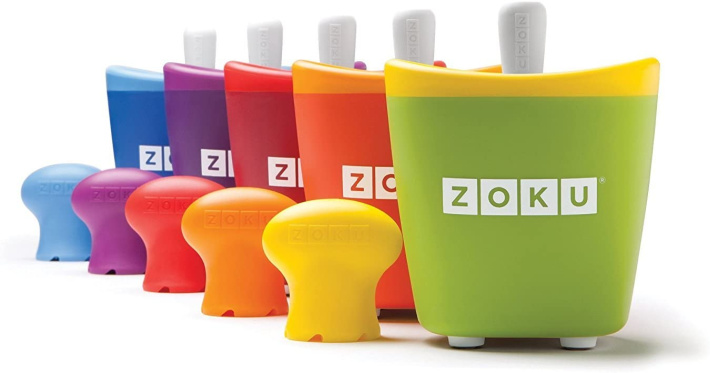 zoku single pop maker from amazon - 5 single pop makers shown with removal bulb