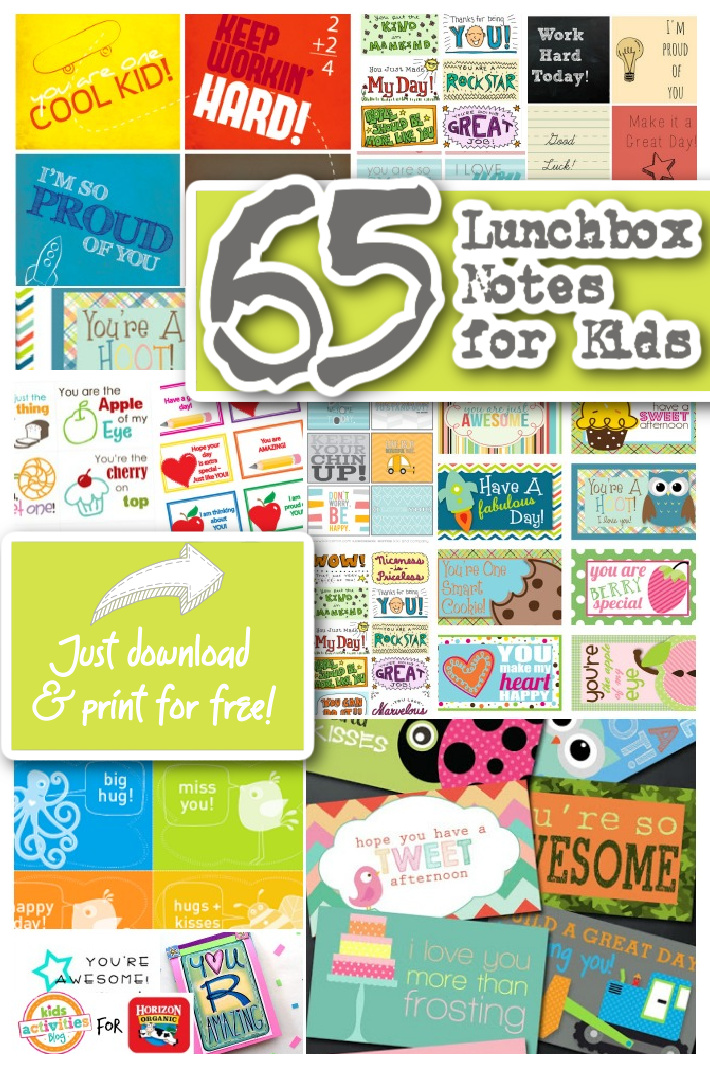 65 Free Printable Lunchbox Notes To Brighten Your Kid's Day