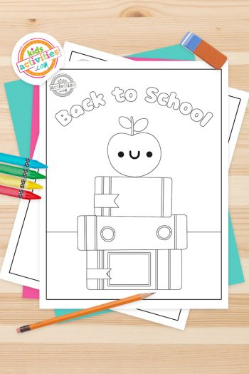 Back to school coloring pages for preschool Feature Image