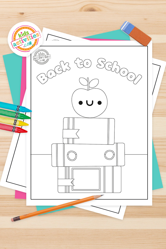 Adorable Back to School Coloring Pages for Preschool