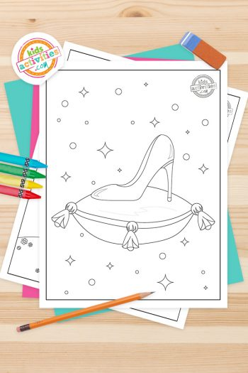Cinderella Coloring Pages Feature Image