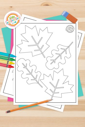 Fall Leaf Coloring Pages Feature Image