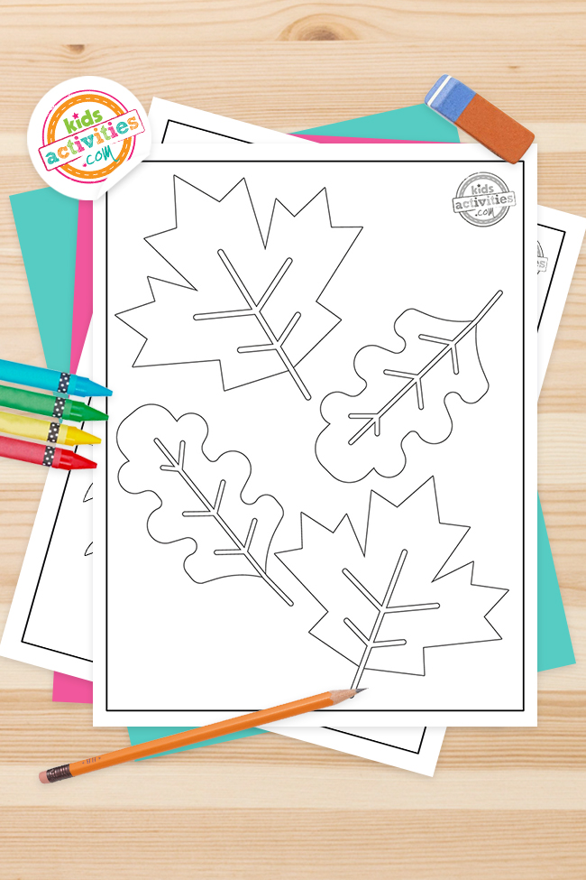Earthy Free Fall Leaf Coloring Pages