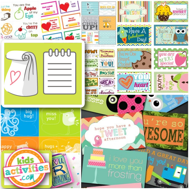 Find the perfect lunch note to print for your child lunchbox - Kids Activities Blog