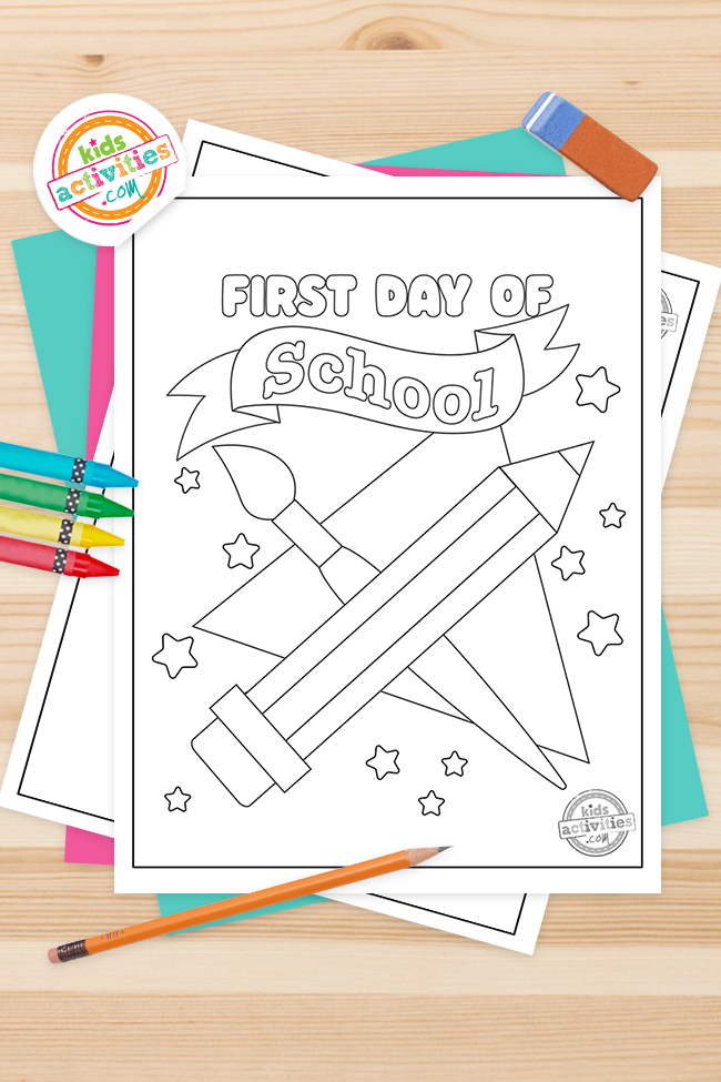Exciting First Day of School Coloring Pages