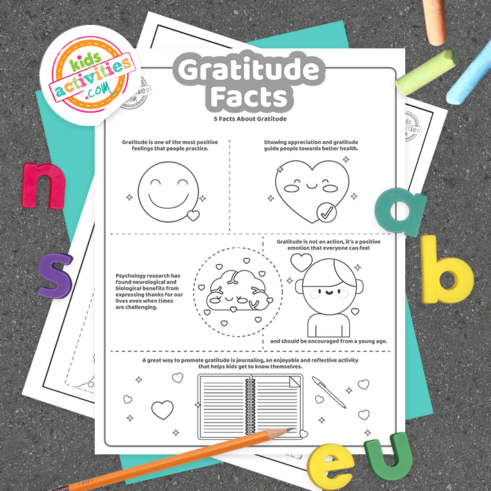 Gratitude Facts Coloring Pages Screenshot Square