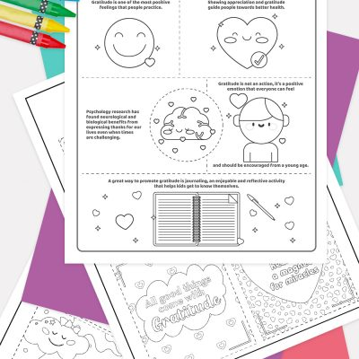 Gratitude Facts and cards Coloring Pages Pinterest