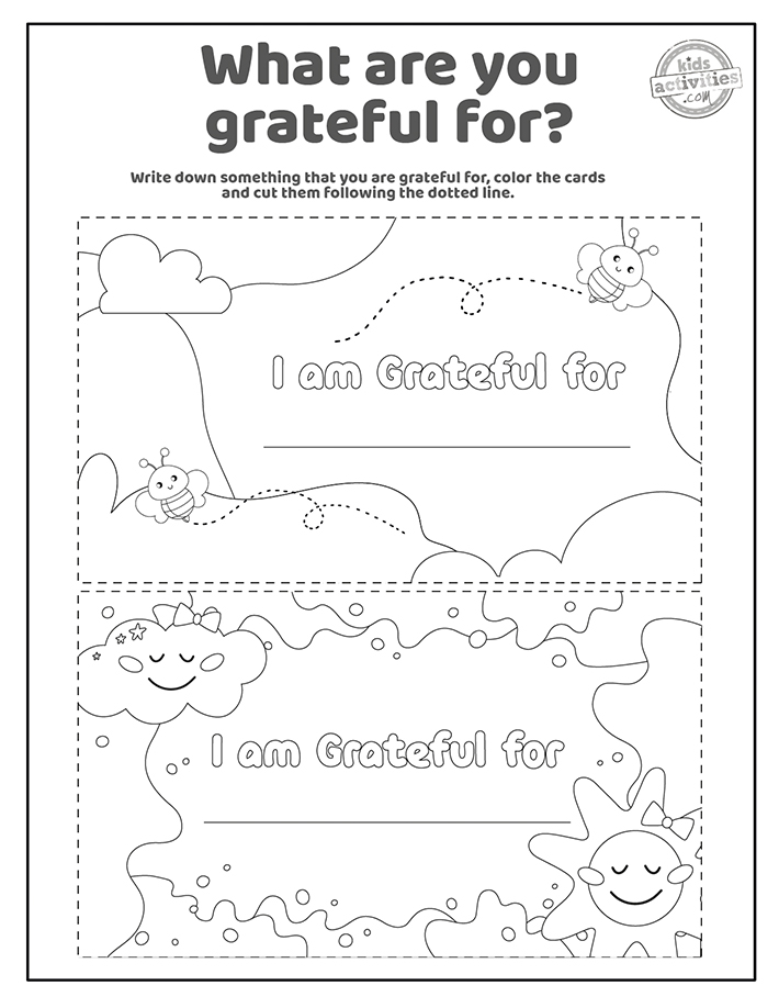 Gratitude Facts and cards Coloring Pages Screenshot 3