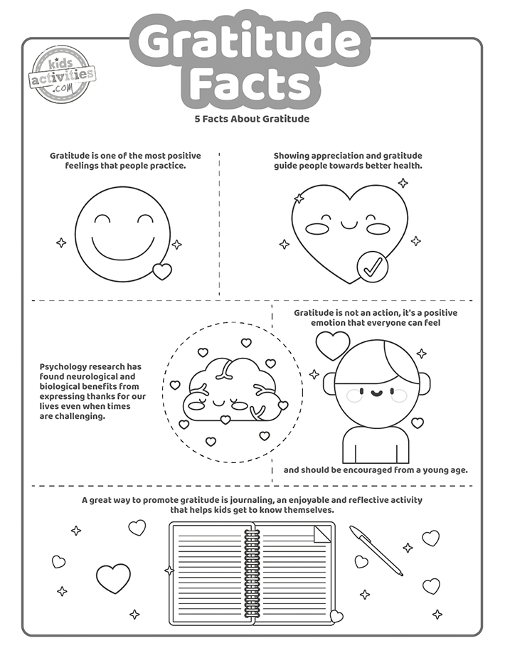 Gratitude Facts and cards Coloring Pages Screenshot