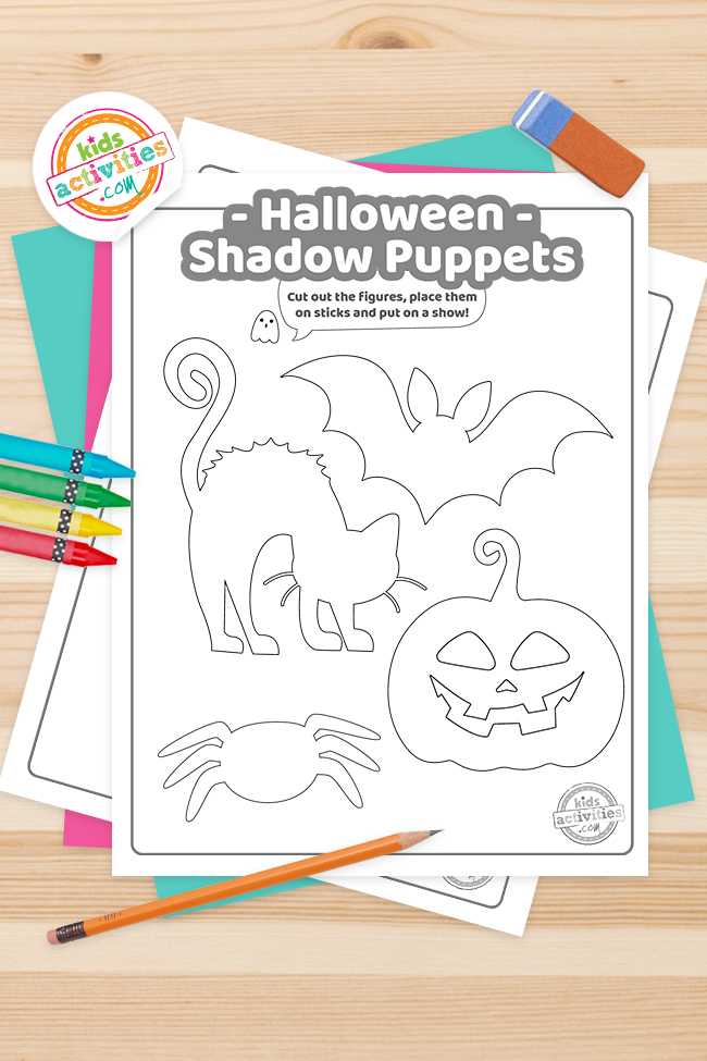 Halloween Shadow Puppets Printables