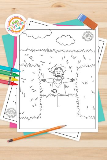 Hay Maze Coloring Pages Feature Image