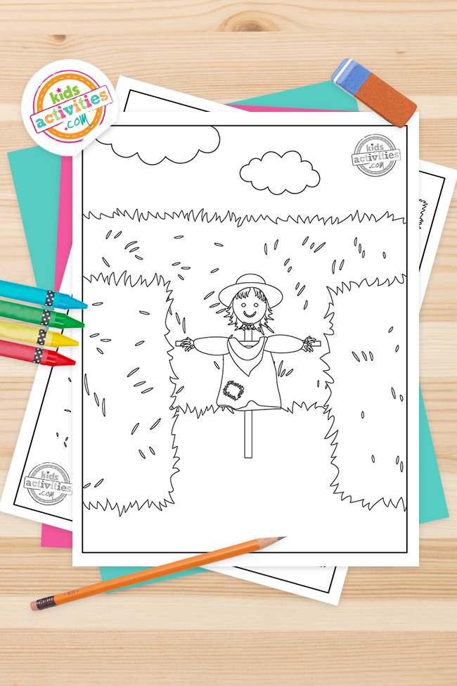 Printable Hay Maze Coloring Pages