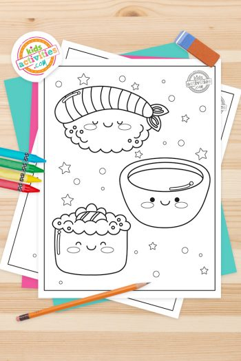 Kawaii Coloring Pages Feature Image