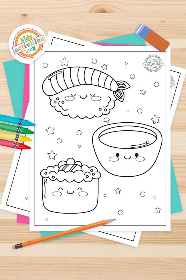 Free Kawaii Coloring Pages (Cutest Ever)