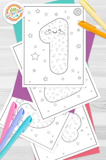 Numbers Coloring Pages Feature Image