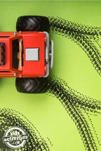 Painting-with-Monster-Trucks-Preschool-Art-Activity-for-Kids-feature