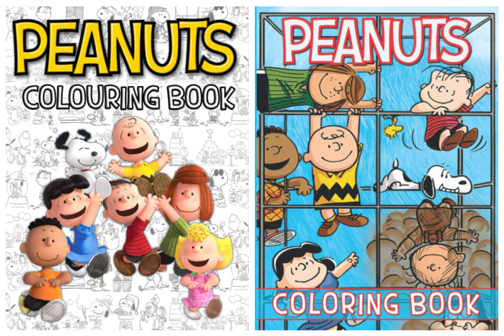 Peanuts Coloring Books for Adults and Kids Images from Amazon