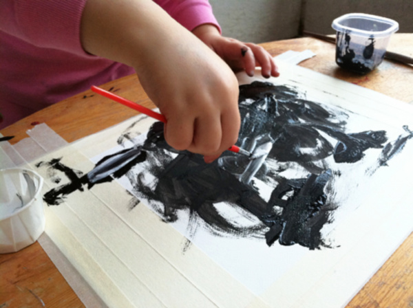 Wood process art projects for 3 and 4 year olds from Meri Cherry - Kids Activities Blog