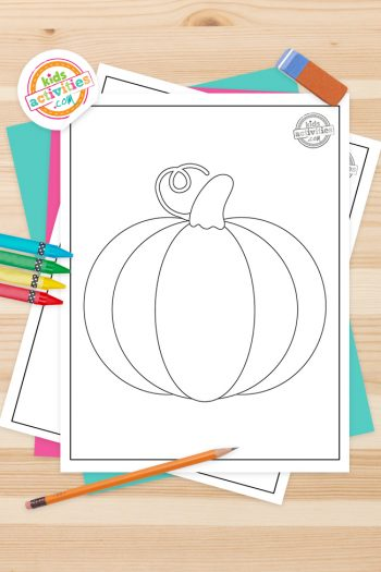 Pumpkin Coloring Pages Feature Image
