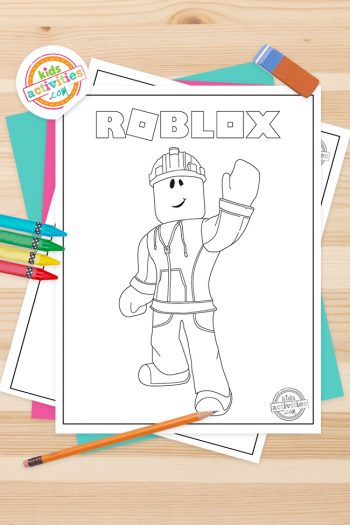 Roblox Coloring Pages Feature Image