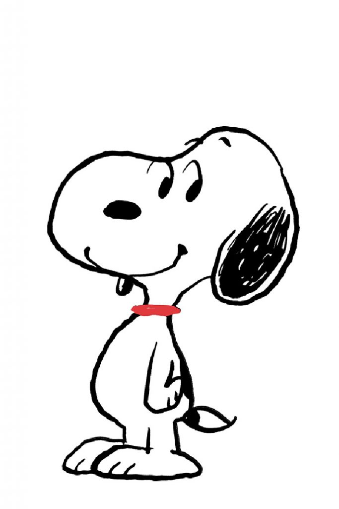 Peanuts In Home Classroom ideas - Picture from Peanuts.com shows Snoopy with a red collar
