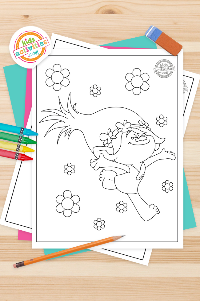 Free Printable – Trolls Coloring pages for kids
