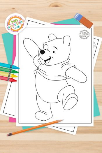 Winnie the Pooh Coloring Pages Feature Image