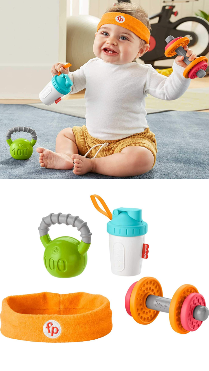 This Fisher-Price Baby Biceps Toy Is The Cutest Way Your Baby Can Get Their Work Out In