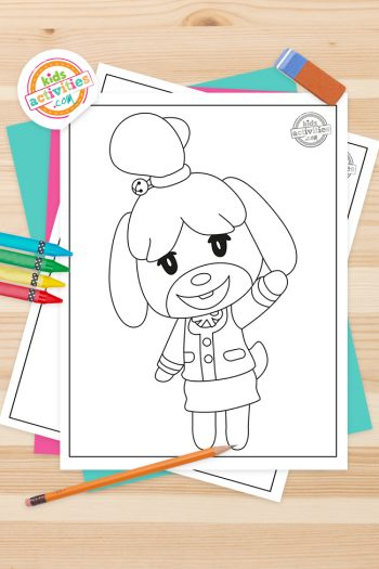 Animal Crossing Coloring Pages Feature Image