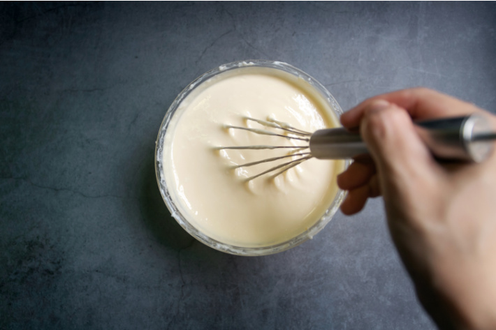 step 2 make the cream cheese mixture - shown with wisk