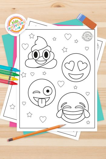 Emoji Coloring Pages Feature Image